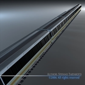 subway train 2 without interior 3d model 3ds dxf c4d obj 83295