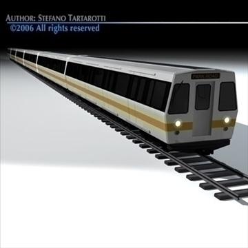 subway train 2 without interior 3d model 3ds dxf c4d obj 83296