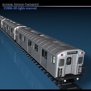 subway train 3d model 3ds dxf c4d obj 81959