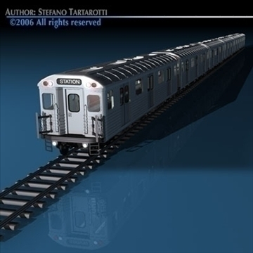 subway train 3d model 3ds dxf c4d obj 81960