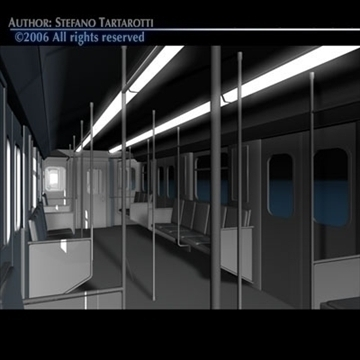 subway train 3d model 3ds dxf c4d obj 81964