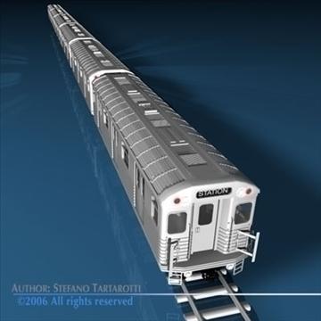 subway train 3d model 3ds dxf c4d obj 81965