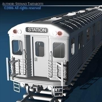 subway train 3d model 3ds dxf c4d obj 81966