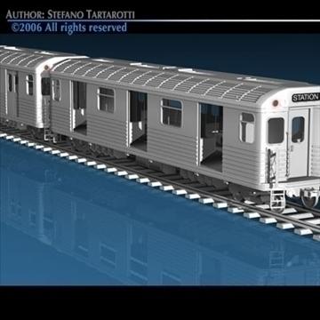 subway train 3d model 3ds dxf c4d obj 81967