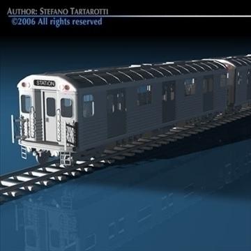 subway train 3d model 3ds dxf c4d obj 81968