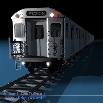 subway train without interior 3d model 3ds dxf c4d obj 81969