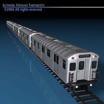 subway train without interior 3d model 3ds dxf c4d obj 81970