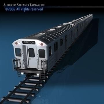 subway train without interior 3d model 3ds dxf c4d obj 81971