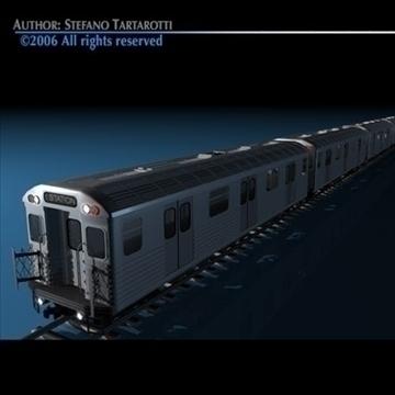 subway train without interior 3d model 3ds dxf c4d obj 81973