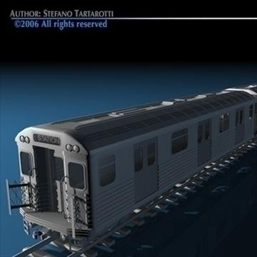 subway train without interior 3d model 3ds dxf c4d obj 81974