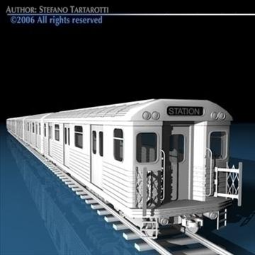 subway train without interior 3d model 3ds dxf c4d obj 81975