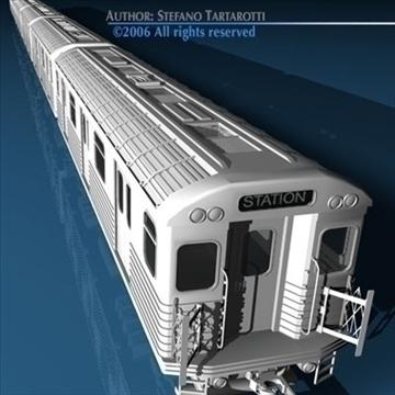 subway train without interior 3d model 3ds dxf c4d obj 81976