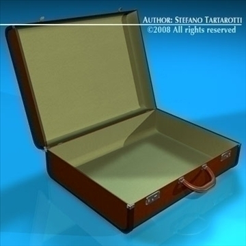 suitcase 3d model 3ds dxf c4d obj 86607
