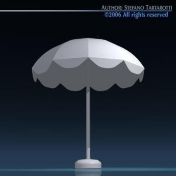 sun umbrella 3d model 3ds dxf obj 78903