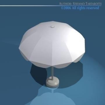 sun umbrella 3d model 3ds dxf obj 78906