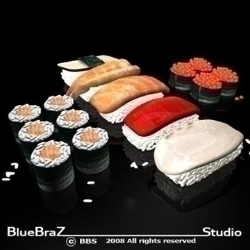 sushi 3d model 3ds dxf c4d obj 89442