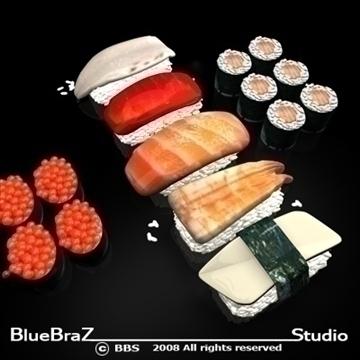 sushi 3d model 3ds dxf c4d obj 89444