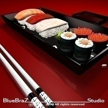 sushi plate 3d model 3ds dxf c4d obj 89449