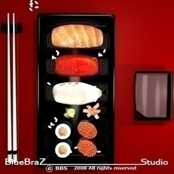 sushi plate 3d model 3ds dxf c4d obj 89452