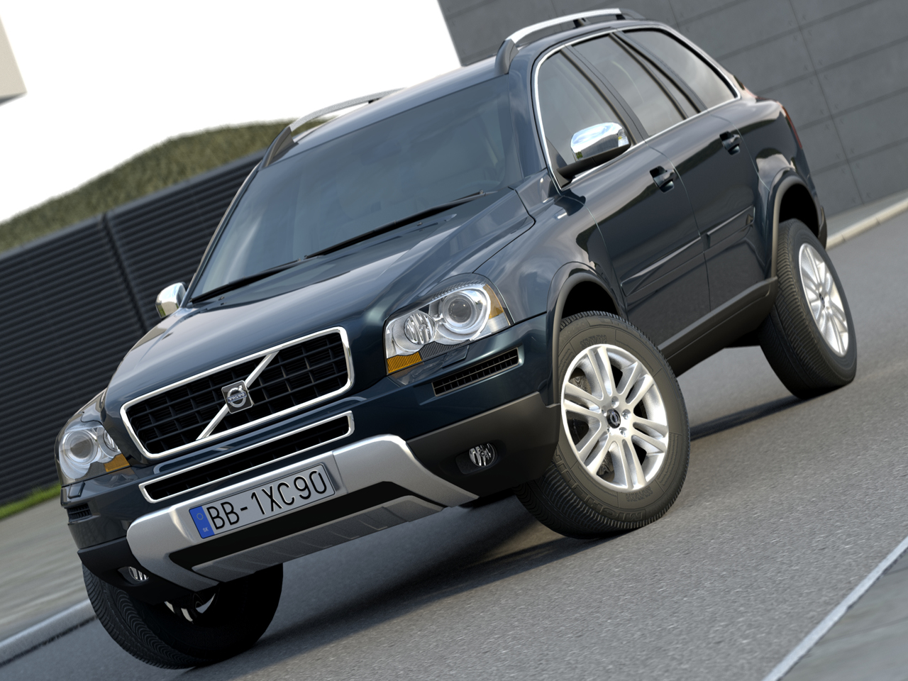suv xc90 (2009) 3d model 3ds max fbx c4d obj 106946