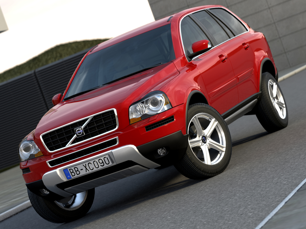 suv xc90 r design (2009) 3d model 3ds max fbx c4d obj 84589