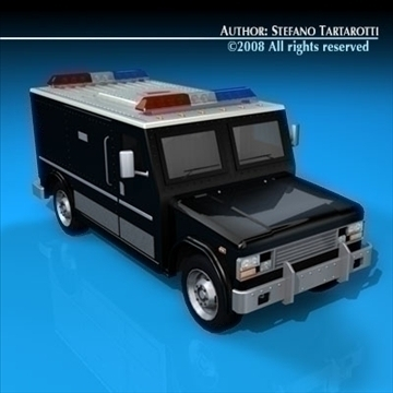 swat truck 3d model 3ds dxf c4d obj 89297