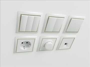 switches and socket 3d model 3ds max obj 103475