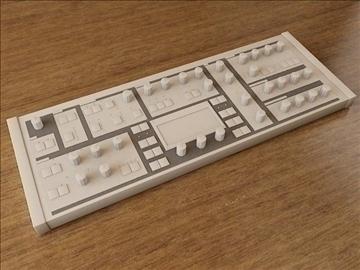 synthesizer 3d model 3ds max fbx obj 107484
