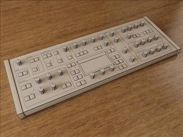 synthesizer 3d model 3ds max fbx obj 107485