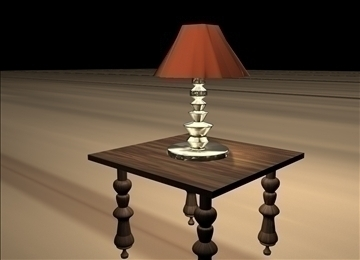 table and lamp 3d model 3dm 101908