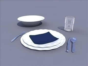 table set 3d model ma mb obj 82789
