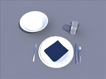 table set 3d model ma mb obj 82790