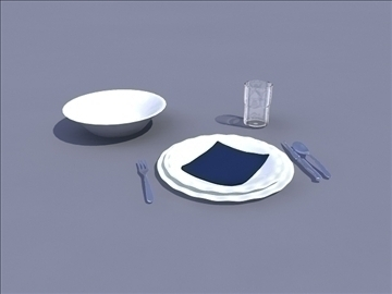 table set 3d model ma mb obj 82791