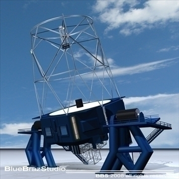 telescope 02 3d model 3ds dxf c4d obj 94165