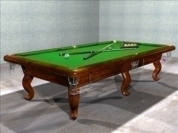 meja billiard (snooker) 3d model max 107733
