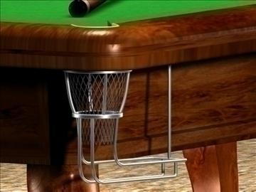 the billiard(snooker)table 3d model max 107734