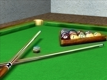 the billiard(snooker)table 3d model max 107736
