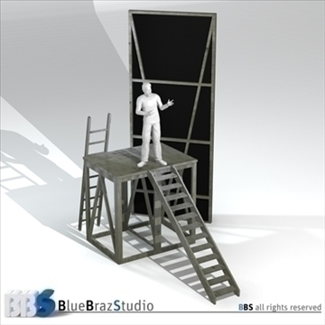 theater elements 3d model 3ds dxf c4d obj 106933