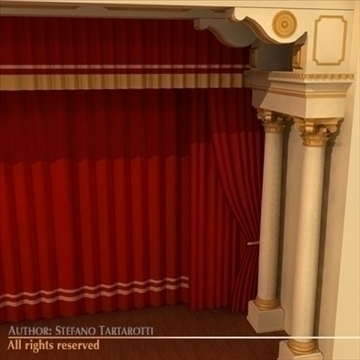 theatre stage 3d model 3ds dxf c4d obj 104315