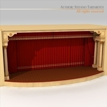 theatre stage 3d model 3ds dxf c4d obj 104316