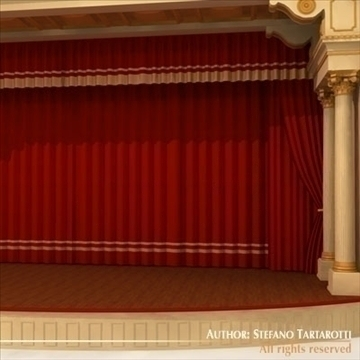 theatre stage 3d model 3ds dxf c4d obj 104317