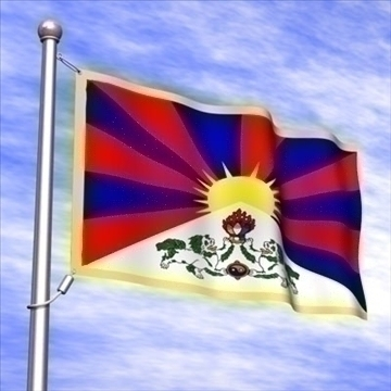 tibetan flag.zip 3d model 3ds dxf fbx c4d x obj 88407