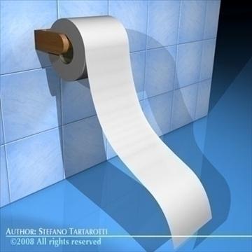 tualetes papīrs 3d modelis 3ds dxf c4d obj 89677