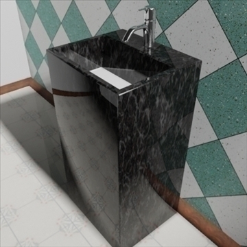 totem sink 3d model 3ds max dxf obj 82193