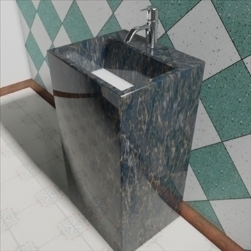 totem sink 3d model 3ds max dxf obj 82194