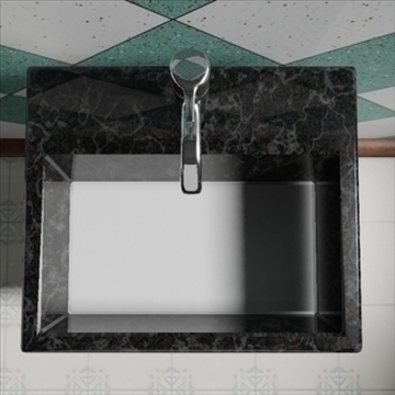 totem sink 3d model 3ds max dxf obj 82198