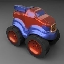 Toy Truck ( 40.93KB jpg by Yen3D )