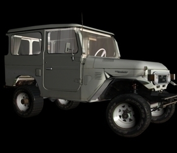 toyota 4wd 3d model 3ds 80163
