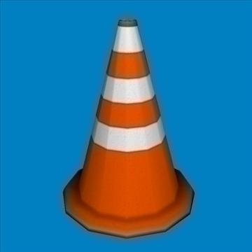 traffic cone 3d model obj 85709