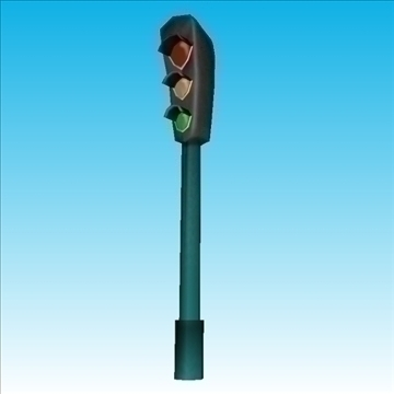 traffic lights column 3d model obj 85708